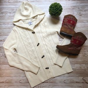 Columbia Cable Knit Toggle Button Cardigan
